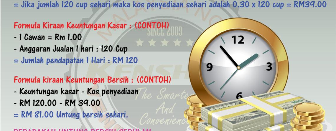 Bagaimana cara mengira Keuntungan Vending Machine Cup @ mesin layan diri mesin cup