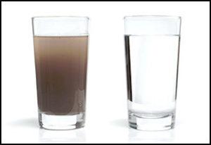 Contoh Air Yang Ditapis dan Tidak Ditapis