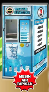 Mesin Layan Diri Air Tapisan @ Water Filter Vending Machine